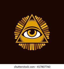 Eye of Providence / Vector illustration