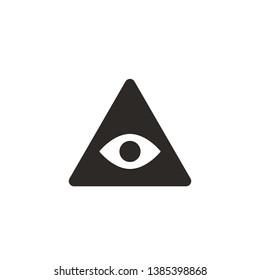 Eye, pyramid vector icon. Simple element illustration from UI concept. Eye, pyramid vector icon. Finance concept vector illustration.