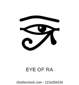 Eye of ra icon. Eye of ra symbol design from Religion collection. Simple element vector illustration on white background.