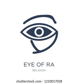 Eye of ra icon. Trendy flat vector Eye of ra icon on white background from Religion collection, vector illustration can be use for web and mobile, eps10