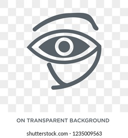Eye of ra icon. Trendy flat vector Eye of ra icon on transparent background from Religion collection. High quality filled Eye of ra symbol use for web and mobile