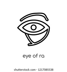 Eye of ra icon. Trendy modern flat linear vector Eye of ra icon on white background from thin line Religion collection, editable outline stroke vector illustration