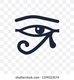 Eye of ra transparent icon. Eye of ra symbol design from Religion collection. Simple element vector illustration on transparent background.