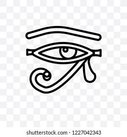 Eye of ra vector linear icon isolated on transparent background, Eye of ra transparency concept can be used for web and mobile