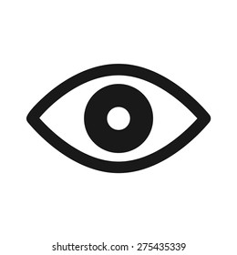 Eye retina scan or eye exam flat vector icon for medical apps and websites