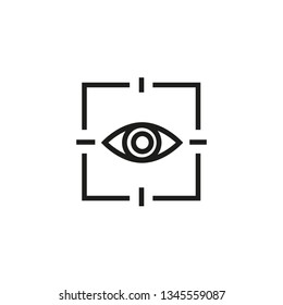 Eye scanning line icon. Biometry, identity, protected access. Scanning concept. Vector illustration can be used for topics like technology, applications, internet