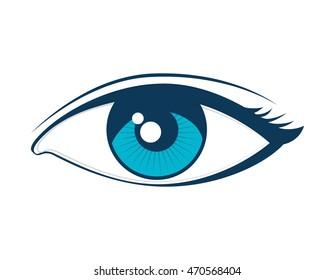 Eye See View Look Vision Girl Stock Vector Royalty Free 470568404