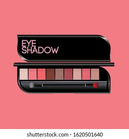 Eye Shadow Pink Mock Up Vector