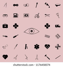 eye with short-sightedness problems icon. Medicine icons universal set for web and mobile
