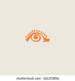 Eye - the sun, the pupil spiral. Company logo design.