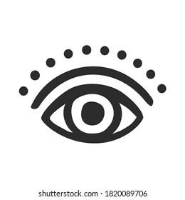 Eye Symbol - Vector Silhouette