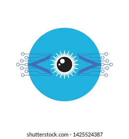 Eye technology logo vector template