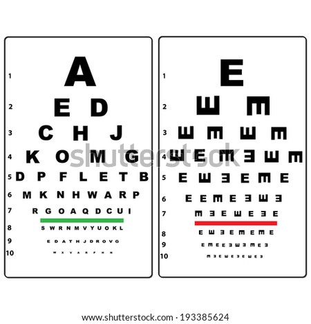 Eye Test Chart Stock Vector Royalty Free 193385624 Shutterstock