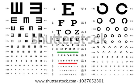 Eye test chart vector vision exam stock vector royalty free