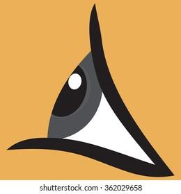 Eye Vector The Human Eye In Profile vector