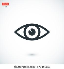 eye vector icon, vector best flat icon, EPS