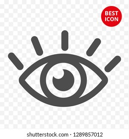 Eye vector icon. Graphic eye concept. Minimalistic style. Flat design isolated. For mobile applications ophthalmologist pharmacy store glasses contact lenses logo advertising marketing