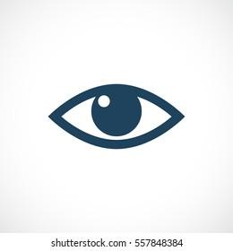 Eye vector icon. Eye looking vector icon.