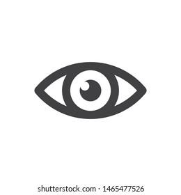 Eye vector icon, simple design. Vision symbol.