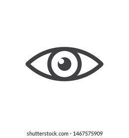 Eye vector icon, simple design. Vision symbol.