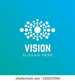Eye vector logo design idea. Eye Health logo template