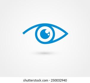 Eye vector logo design template.