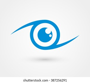 Eye vector logo design template
