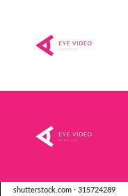 Eye video company logo template.