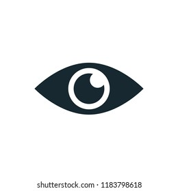 eye view icon vector logo template