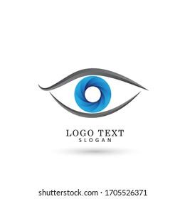 Eye Vision Logo. Symbol & Icon Vector Template.
