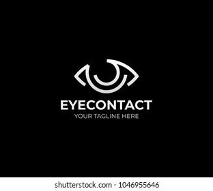 Eye vision logo template. Eyeball vector design. Optical logotype