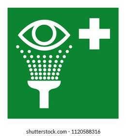 Eye Wash Station Symbol, Vector Illustration, Isolate On White Background Icon. EPS10