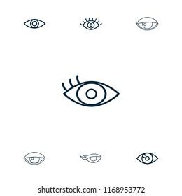Eyeball icon. collection of 7 eyeball outline icons such as . editable eyeball icons for web and mobile.