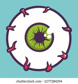 Eyeball icon. Hand drawn illustration of eyeball vector icon for web design