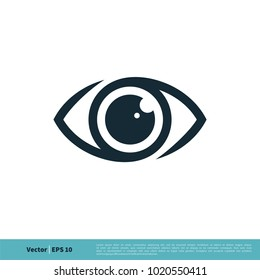 Eyeball Vision Icon Vector Logo Template Illustration Design. Vector EPS 10.