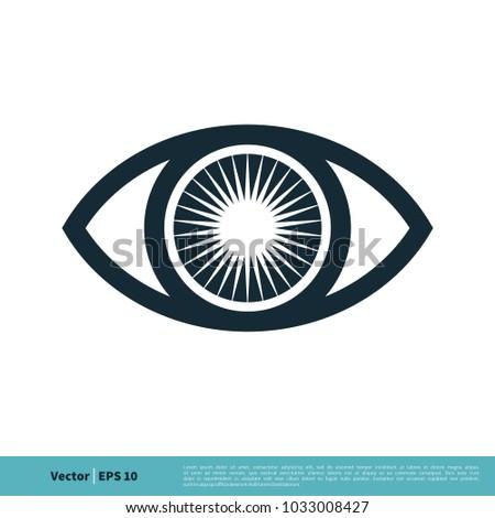 eyeball vision icon vector logo template stock vector royalty free