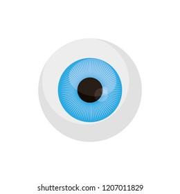 eyeball vision on white background