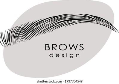 Eyebrow design logo. Vector brow. Minimalism.