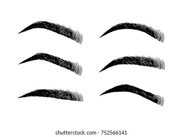 graphic relating to Eyebrow Shapes Stencils Printable identify Eyebrows Pictures, Inventory Visuals Vectors Shutterstock
