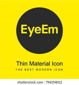 Eyeem logo bright yellow material minimal icon or logo design