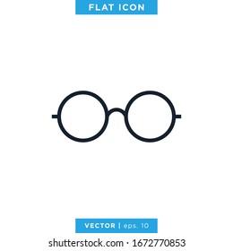 Eyeglass Icon Vector Design Template