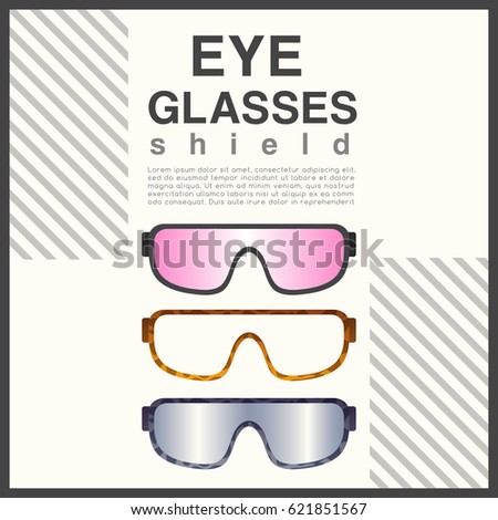 8b0f428c22 Eyeglasses Frame Type Shield Sunglasses Vector Stock Vector (Royalty ...