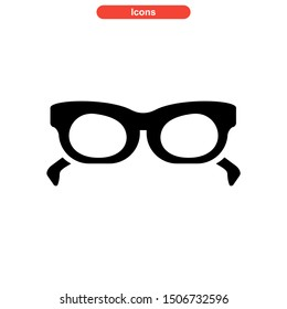 eyeglasses icon isolated sign symbol vector illustration - high quality black style vector icons