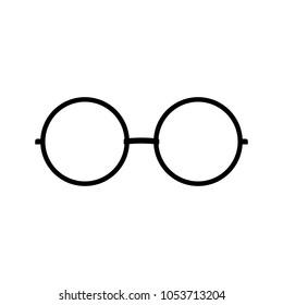 eyeglasses icon, vector illustration