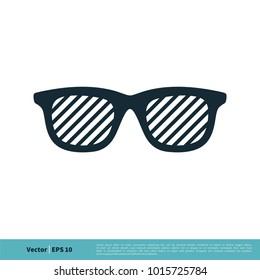 Eyeglasses Icon Vector Logo Template