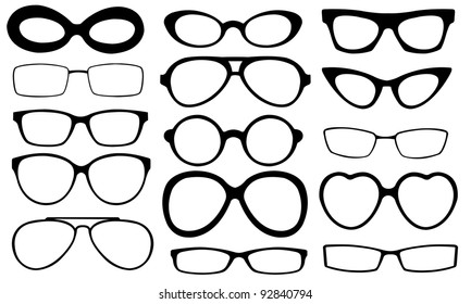 eyeglasses isolated on white