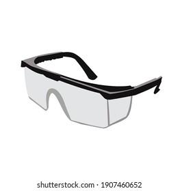 eyeglasses protection equipment vector design