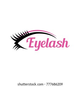 eyelash concept logo, icon, symbol, ilustration design template