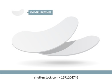 Eyelash Extension Application Tools and Supplies. Eye pads. Products for Makeup and Cosmetic Procedures in beauty salon. Training poster. Guide