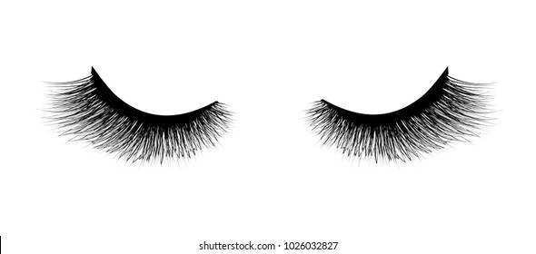 Eyelash extension. A beautiful make-up. Mascara for volume and length.